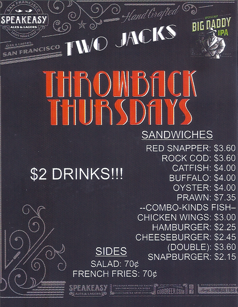 Throw Back Thursdays Flyer